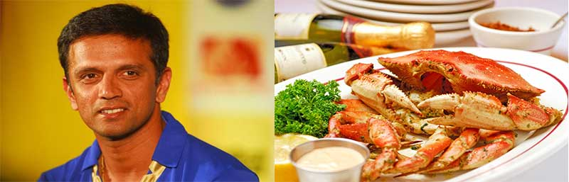 dravid loves crab