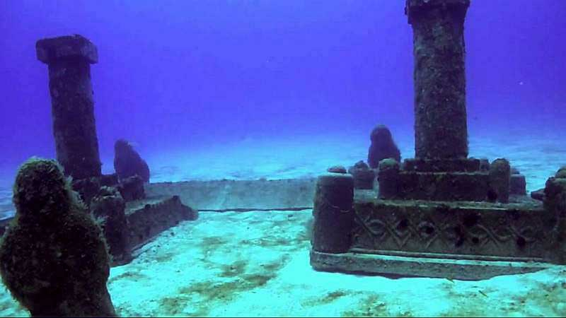 dwarka ruins under water