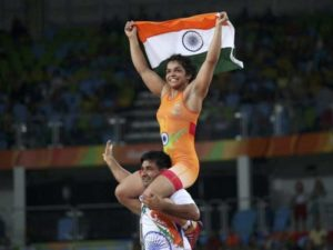Sakshi with her coach