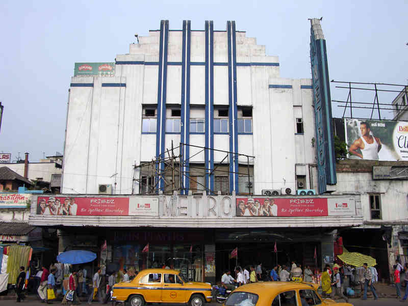 Metro Cinema Hall Calcutta - from opposite side of the road