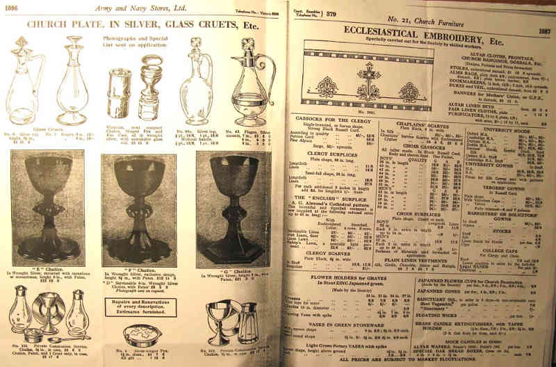 Page of a Army and Navy Store Catalogue