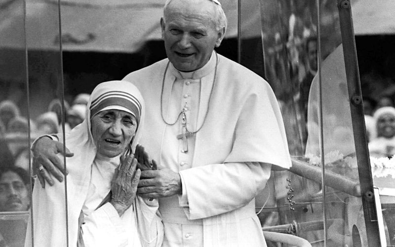 Mother Teresa with John Paul II