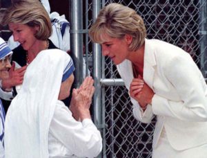 Mother with lady diana
