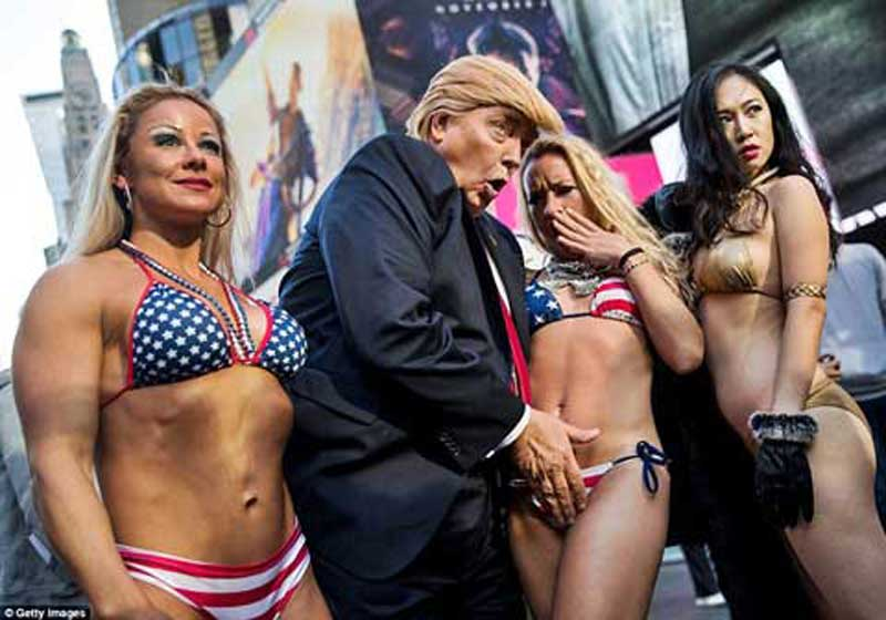 donald with girls