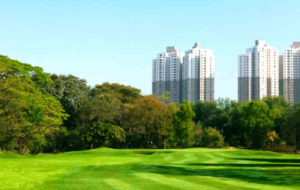 View of South City Complex from Royal Calcutta Golf Club