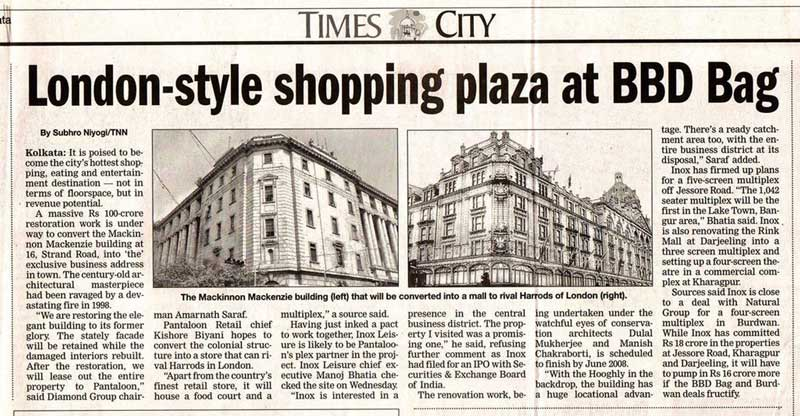 Clipping about Mackinon Mackenzie Building