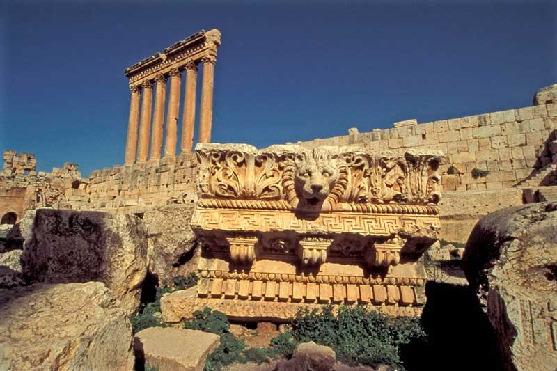 Roman structures at pre-Roman site of Baalbek