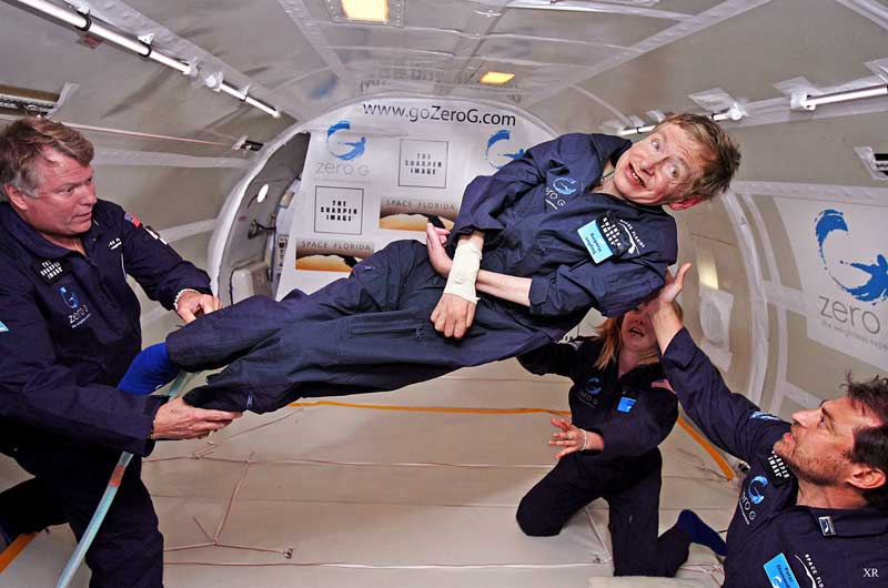 stephen hawking going to visit space