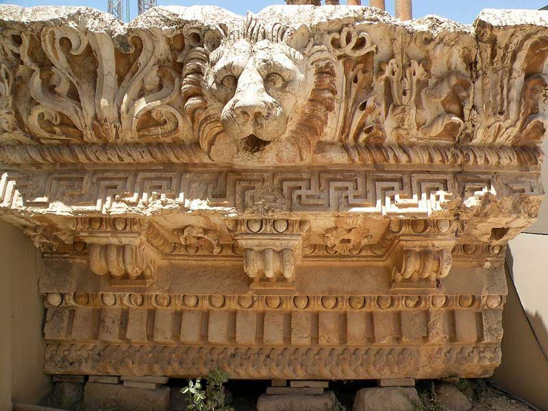 Temple Of Jupiter - Lion Head Carving