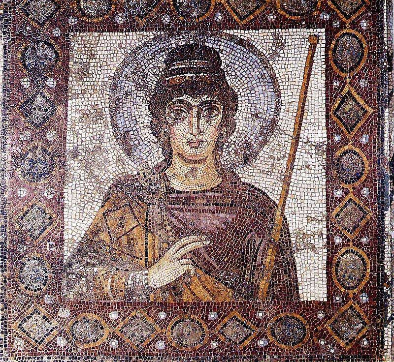 The famous Lady of Carthage mosaic