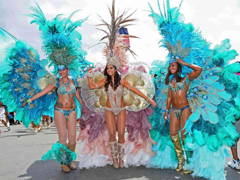 Colourful Trinidad & Tobago Carnival