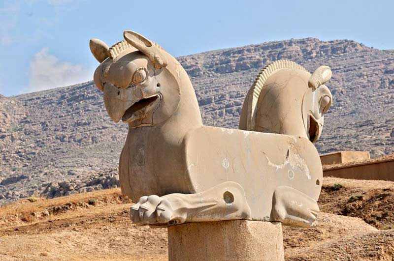 Zoomorphic griffin capital at Persepolis