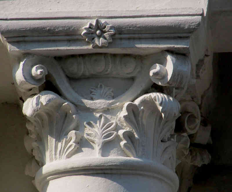 An ornamented column