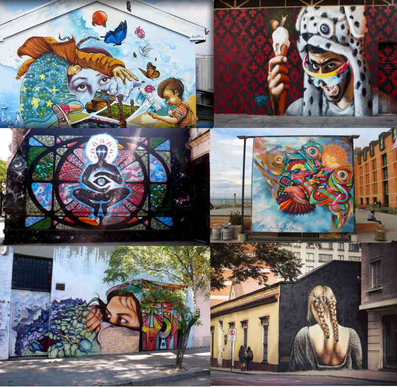 15 of the best cities for street art from around the world for Carpenter papel mural santiago chile