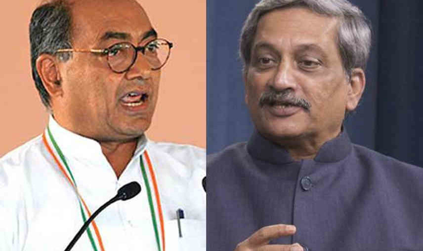 digvijay singh and manohar parrikar