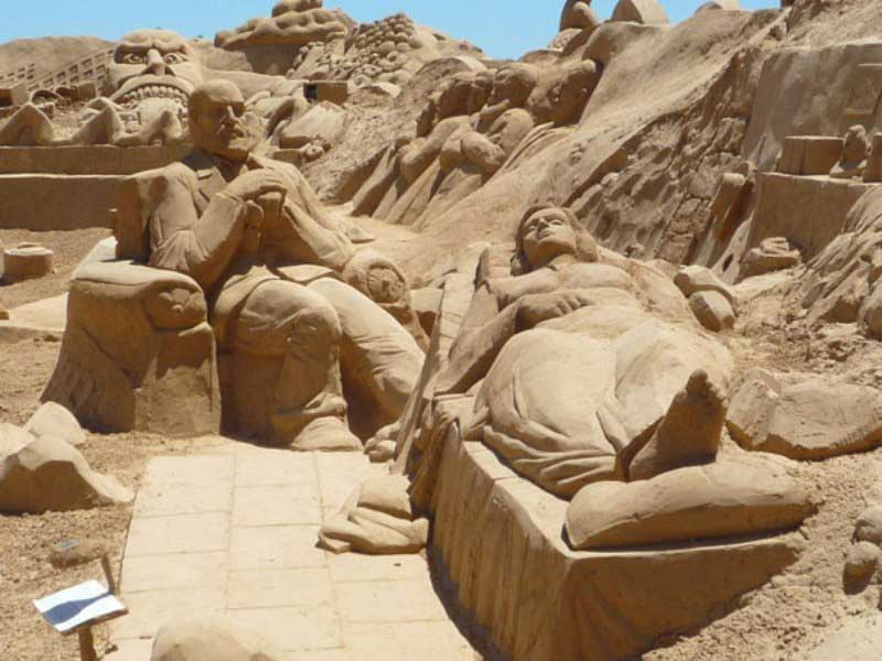 Sculptures featuring International Sand Sculpture Festival 02