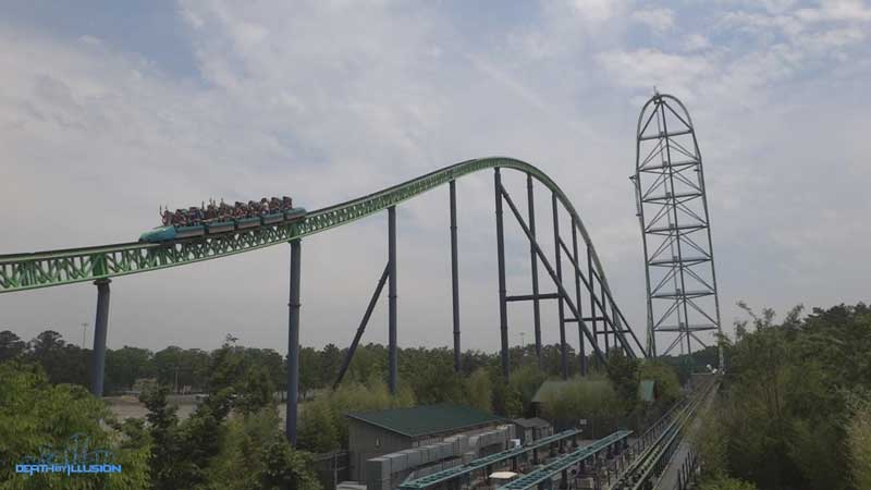 Kingda Ka at Six Flags Great Adventure in Jackson, New Jersey