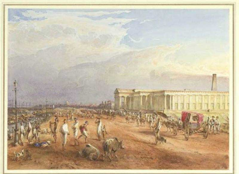 The Old Silver Mint painting by Thomas Princep - 1829