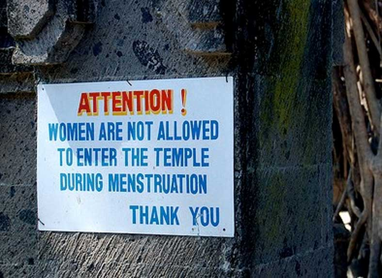 Menstruating women are impure