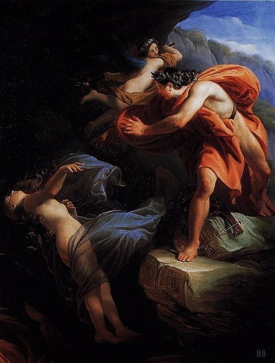 Enrico Scuri (Italy 1805-1884) - Euridice recedes into the Underworld