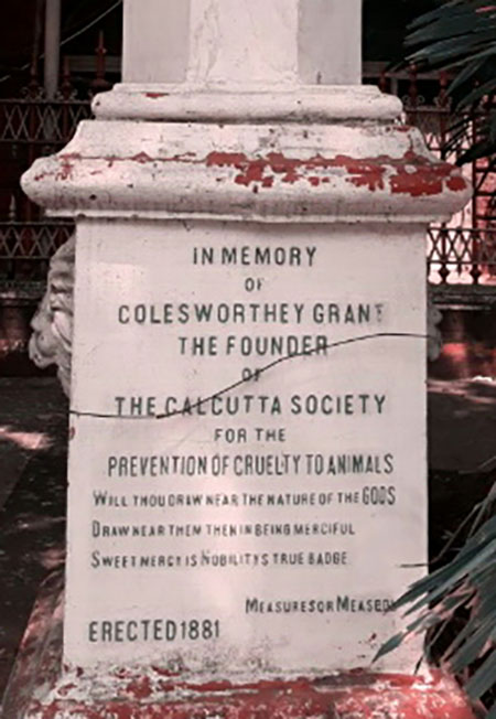 Plaque of Colesworthy Grant Memorial