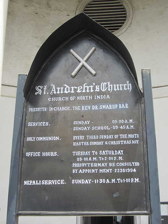 St. Andrew's Church - Information Board at Entrance